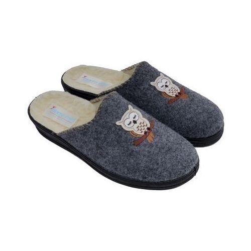 Szare pantofle domowe damskie  7563-M46-W 41 szary marki Panto Fino