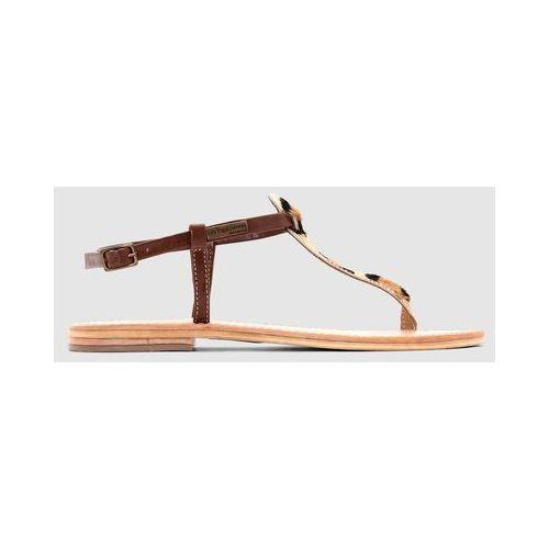 Sandały narvil, płaski obcas, typu japonki, skóra marki Les tropeziennes par m.belarbi
