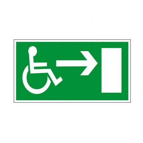 Kierunek drogi ewakuacyjnej dla niepełnosprawnych w prawo