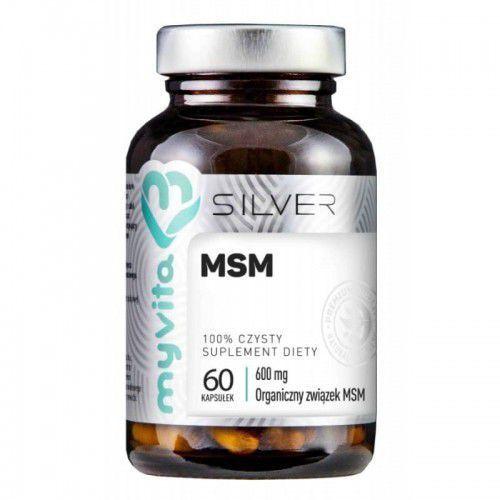 Myvita Msm organiczny związek siarki 600ml 60 kapsułek - silver (5903021590336)