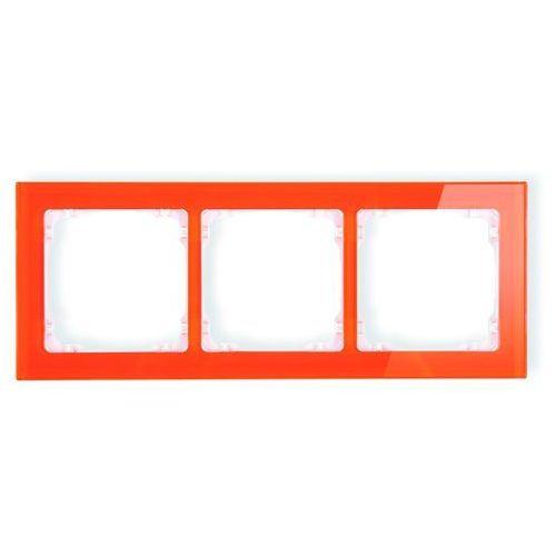 Karlik elektrotechnik Ramka uniwersalna 3-krotna - efekt szkła (ramka: pomarańczowa; spód: biały) 13-0-drs-3