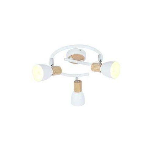 Plafon lampa sufitowa spirala spot Candellux Anabel 3x25W E14 biały / drewno 98-61690, 98-61690