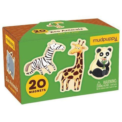 MUDPUPPY Zestaw magnesów - Zwierzęta w zoo