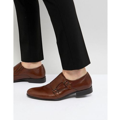 leather monk shoes in tan - tan, Pier one