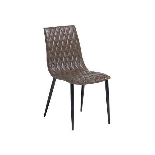 Beliani Krzesło do jadalni brązowe montana