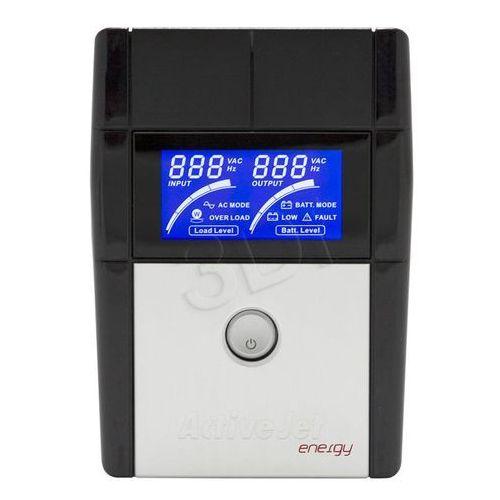 Activejet  ups aje-850va lcd/usb/rs232/4xiec/9ah
