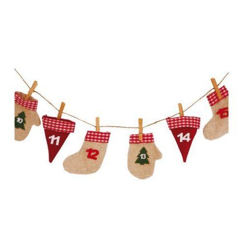 Kalendarz adwentowy - woreczki z juty, Ozdoby choinkowe i świąteczne