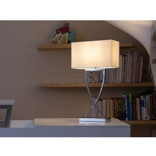 Beliani Lampa biurowa biała - stołowa - nocna - gabinetowa - yasuni (4260580922086)