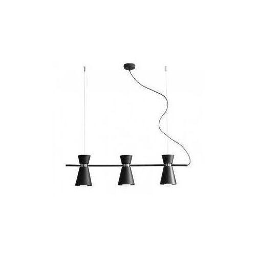 kedar 989e/1 lampa wisząca sufitowa zwis 3x60w e27 czarny/chrom marki Aldex