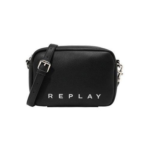Replay torba na ramię czarny / biały