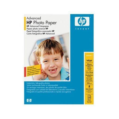Hp Papier fotograficzny advanced, błyszczący – 25 arkuszy/13 x 18 cm bez marginesów q8696a