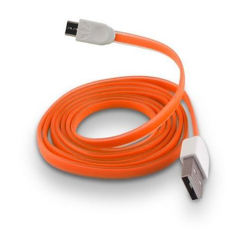Telforceone Płaski kabel silikonowy micro usb forever pomarańczowy