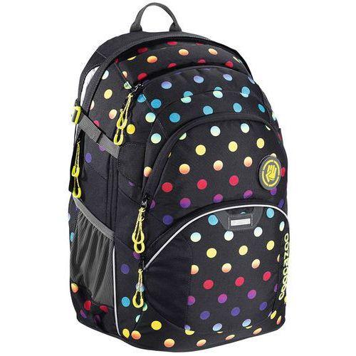 "Coocazoo JobJobber II plecak szkolny 45 cm / laptop 15,4"" / Magic Polka - czarny ||wielokolorowy (4047443340610)"