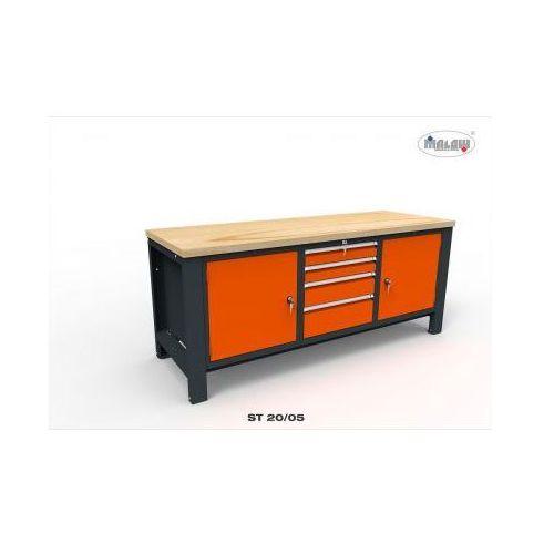 Stół do warsztatu ST20/05 na narzędzia szuflady na zamek, EXECUTIVE 65 KL