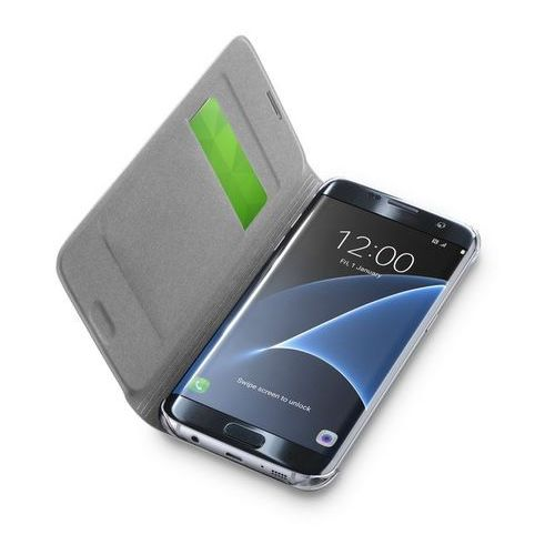 Cellular Line Back Book do Samsung Galaxy S7 Edge srebrny