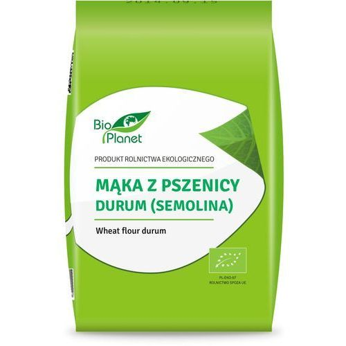 Bio planet - seria mąki i skrobie Mąka z pszenicy durum (semolina) 1 kg - bio planet