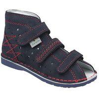 Danielki Kapcie profilaktyczne buty t105 t115 granat czerwony - granatowy ||czerwony ||multikolor