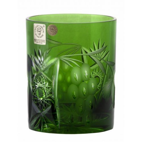 156672 szklanka winorośl, kolor zielony, objętość 320 ml marki Caesar crystal