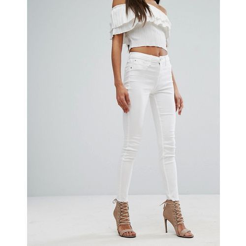River island  amelie mid rise skinny jeans - white