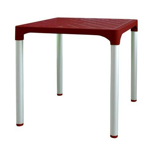MEGA PLAST stół MP1351 VIVA, czerwony (8606006429757)