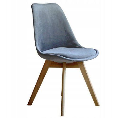 Nowoczesne krzesło art132c popiel welur marki Meblemwm