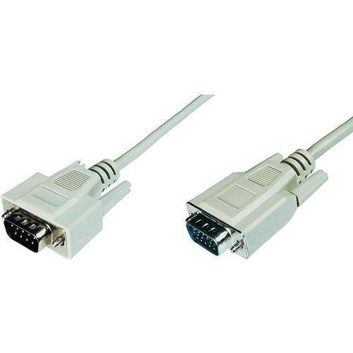 Kabel VGA Digitus AK-310100-050-E, [1x Złącze męskie VGA - 1x Złącze męskie VGA ], 5 m, szary