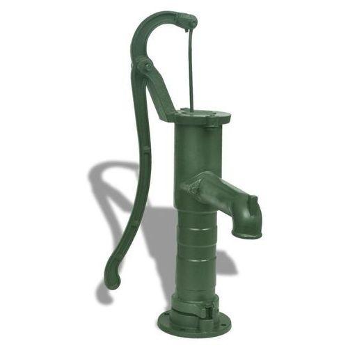 Żeliwna, ręczna pompa ogrodowa ze stojakiem marki Vidaxl