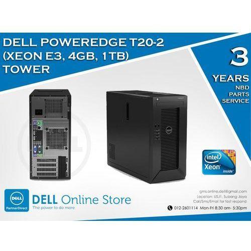 DELL PowerEdge T20 XEON QUAD CORE 4X 3.4/8GB 2x1TB Win.Server Fund. 2012/3NBD z kategorii Serwery