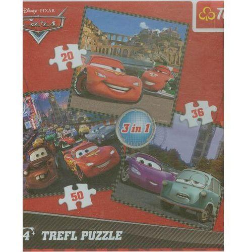 Puzzle 3w1 podróż wokół europy marki Trefl
