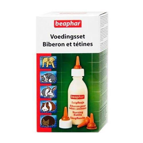 BEAPHAR Nursing Set - zestaw do karmienia - smoczki z butelką (8711231112463)