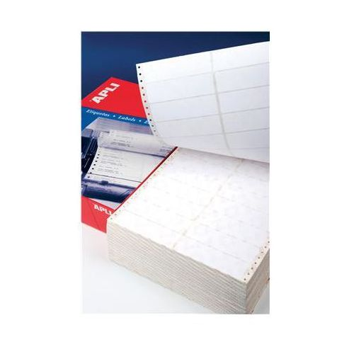 Etykiety do drukarek igłowych APLI, 88,9x36mm, 1-kolumna, prostokątne, białe