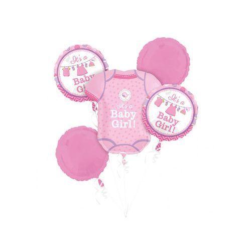 Amscan Bukiet balonów foliowych baby girl - 1 kpl. (0026635309134)