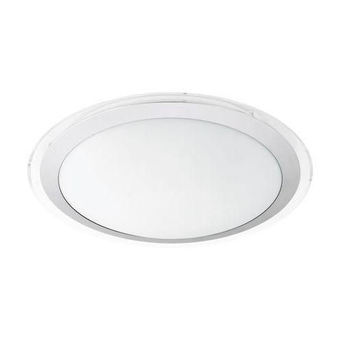 Plafon Eglo Competa 1 95678 lampa oprawa sufitowa 1x24W LED biały srebrny, kolor biały,