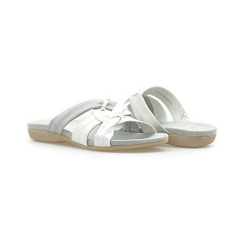Klapki  8-27161-24 białe marki Soft line