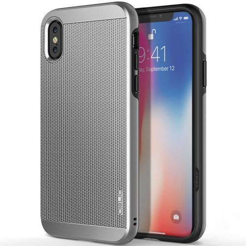 Obliq Slim Meta - Etui iPhone X (Satin Silver), kolor szary