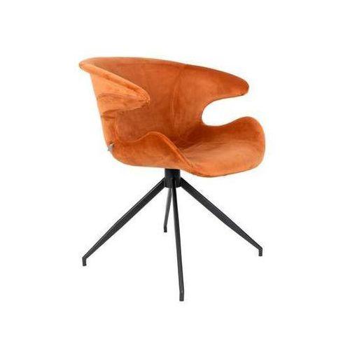 :: krzesło mia pomarańczowe - pomarańczowy marki Zuiver
