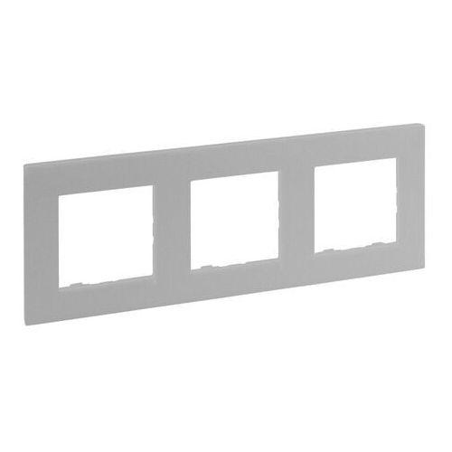 Ramka potrójna Legrand Niloe Step aluminium (3414971838840)