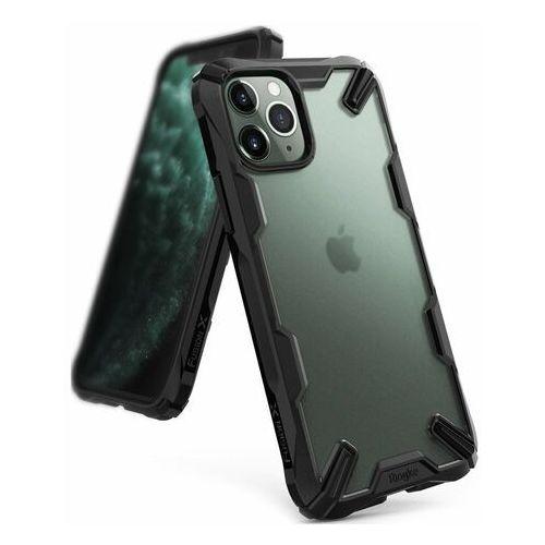 Ringke Fusion X Matte etui pancerny pokrowiec z ramką iPhone 11 Pro czarny (XMAP0002), kolor czarny