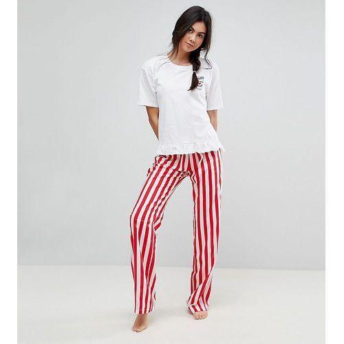 embroidered espresso yourself trouser & tee pyjama set - multi, Asos tall