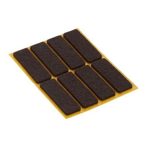 Diall Podkładki samoprzylepne  filcowe 45 x 15 mm brązowe 8 szt. (3663602992578)