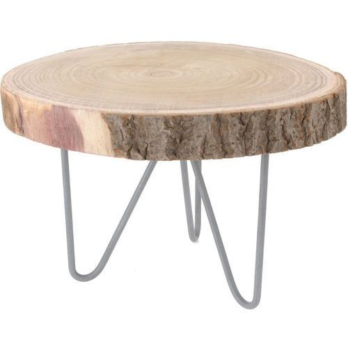 Home styling collection Niski stolik okazjonalny, stolik nocny - naturalny pień drzewa