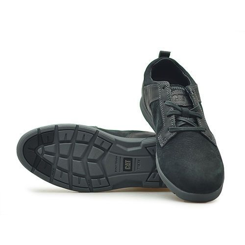 Półbuty CATerpillar P721234 EBB Czarne nubuk, kolor czarny