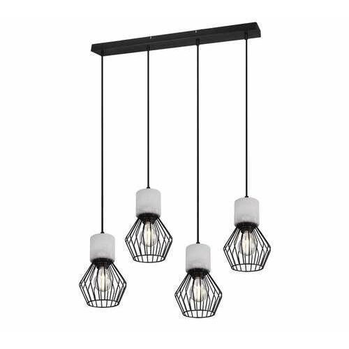 Trio Jamiro 309200432 lampa wisząca zwis 4x40W E27 czarna/szara, kolor Czarny