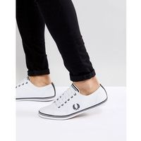 Fred Perry Kingston Leather Trainers In White - White, kolor biały