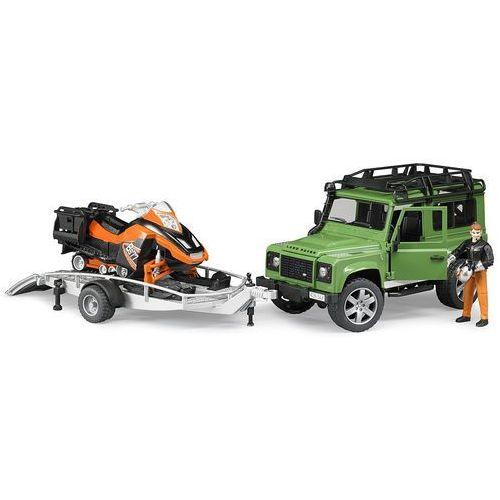 BRUDER 2594 Land Rover z przyczepą i skuterem (4001702025946)