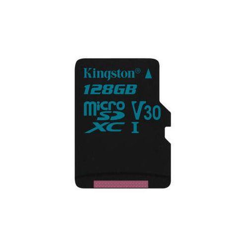 Kingston Karta pamięci canvas go! microsdxc 128gb uhs-i u3 (90r/45w) (sdcg2/128gbsp)