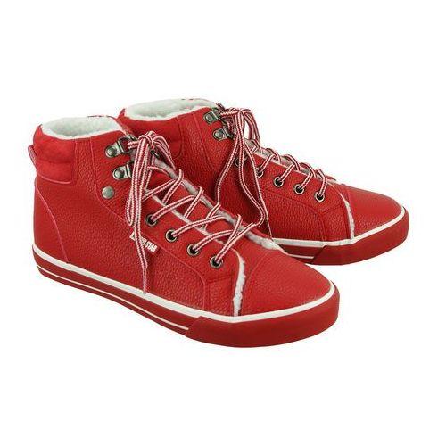 BIG STAR BB274003 czerwony, trzewiki, trampki damskie