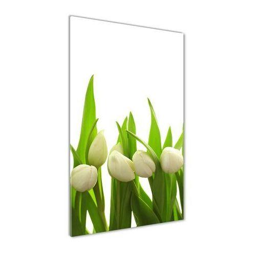 Foto obraz akryl do salonu Białe tulipany