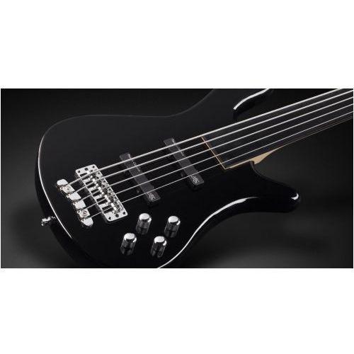 streamer lx 5-str. solid black high polish, fretless gitara basowa marki Rockbass