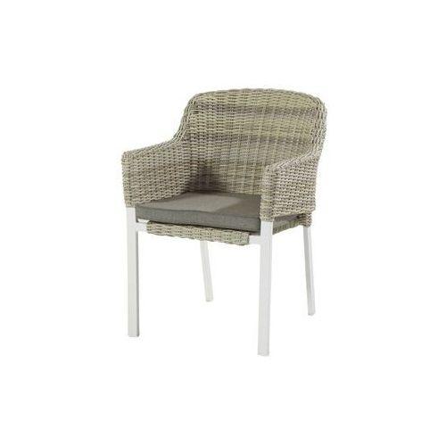 Krzesło ogrodowe w kolorze white/sunny cream | Cairo (72553866)
